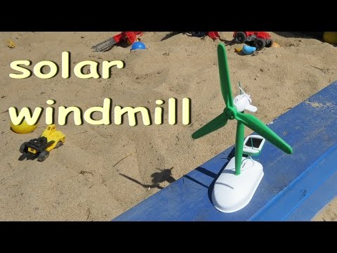 How to bild a solar windmill / Electric robots / Solar toy