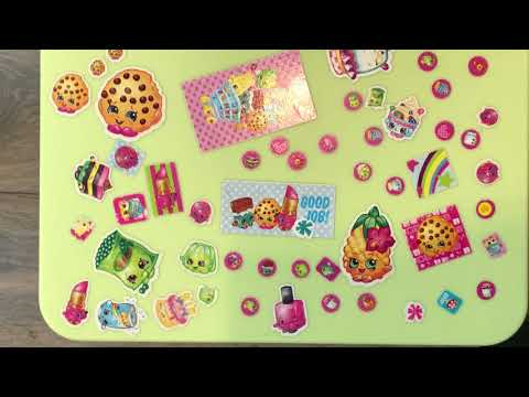 Shopkins Stickers - Good Morning - Breakfast - How To Eat Waffles and 100% Pure Maple Syrup