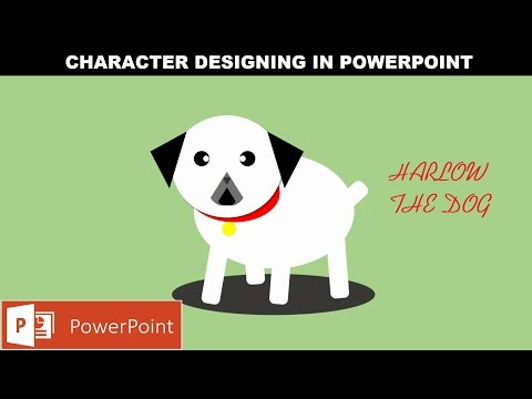 Harlow - The Dog Animation | Character Design in Microsoft PowerPoint 2016 Tutorial