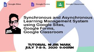 Synchronous and Asynchronous Learning Management System using Google Apps