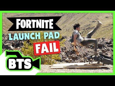 Fortnite Launch Pad Fail! (BTS)