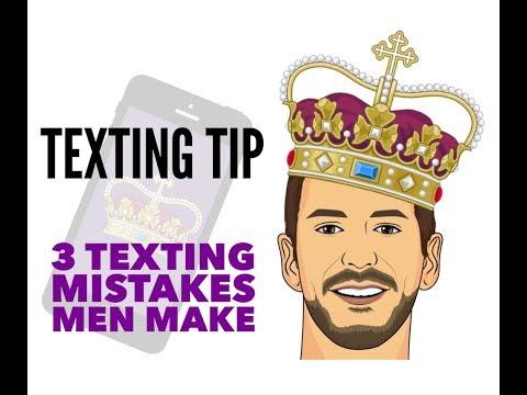 3 Texting Mistakes Men Make