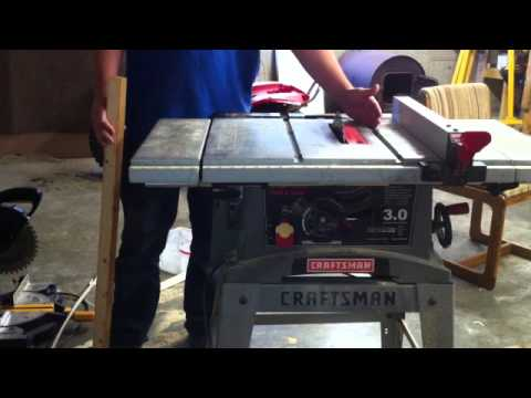 How to use a table saw - how to make a rip cut safely