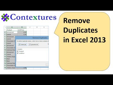 Remove Duplicates From List in Excel 2013