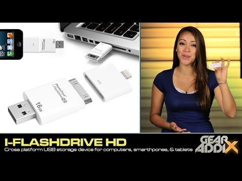 I-FlashDrive HD (USB storage device for smartphones, tablets, & computers)