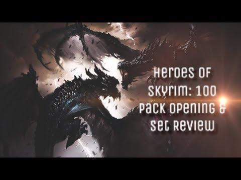 Heroes of Skyrim - Card Reviews + 100 Pack Opening! | Elder Scrolls Legends