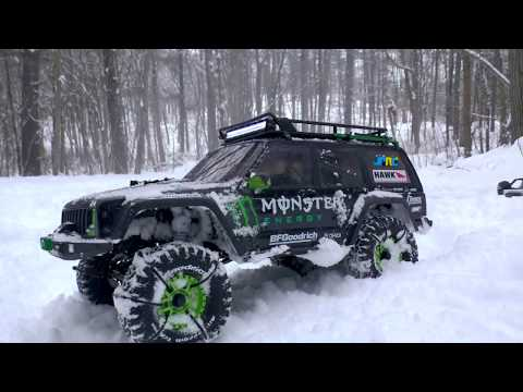 GoPro Onboard Jeep Cherokee Axial SCX10II & Scx10 Jeep Wrangler Casey Currie Edition