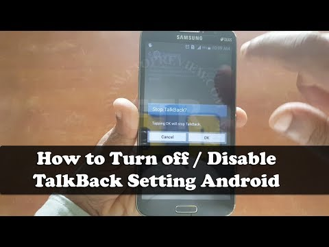 How to Turn Off TalkBack  Samsung Galaxy -(Disable) Turn off  TalkBack Setting Android | Mobile