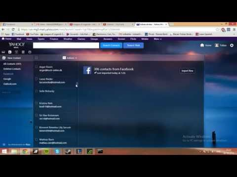 How to view all your facebook friends' mail through yahoo
