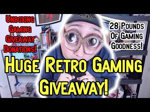 Huge Retro Gaming Giveaway - Unboxing Donations!
