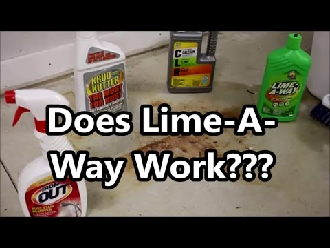 Concrete Rust Stain Cleaning Test 4 of 4: Does Lime-A-Way Rust Remover Work?