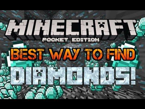 BEST WAY TO FIND DIAMONDS! Minecraft Pocket Edition