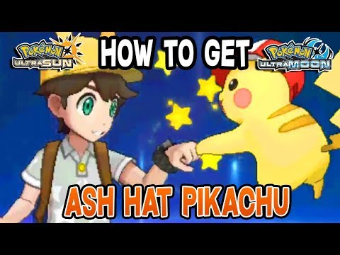 How to get Ash Hat Pikachu & Pikashunium Z Pokemon Ultra Sun & Ultra Moon