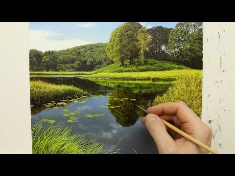 How To Paint A River Time Lapse | Oil Painting Tutorial