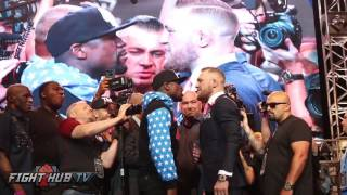 Full Floyd Mayweather vs Conor McGregor Final Face-off