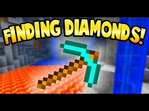 FINDING DIAMONDS IN A CAVE OF LAVA! - Minecraft Gameplay - Crafting a Brick Rigs Lego Statue!