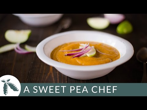 Roasted Acorn Squash Soup | A Sweet Pea Chef