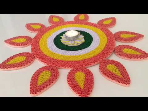 Paper Quilling Rangoli Design / Rearranging Rangoli / Quilling Rangoli For Diwali   Priti Sharma