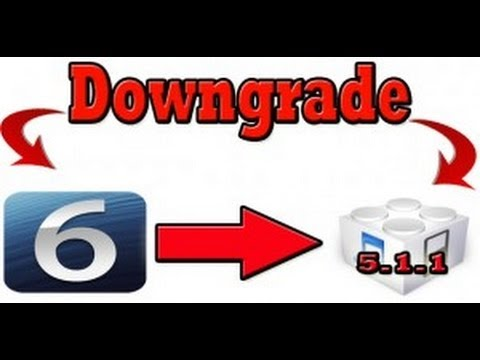 How To Downgrade iOS 6 to 5.1.1 5.1 or 5.0.1, 4.3.5, 4.3.4, 4.3.3, 4.3.2, 4.3.1 To iOS 4.x.x