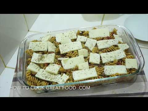 Eggplant Cheese Tomato Pasta Bake Recipe