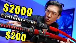 $200 Katana VS $2000 Katana - How to Spot a FAKE!