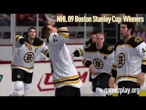 NHL 09 video game predicts Boston Bruins will win the Stanley Cup
