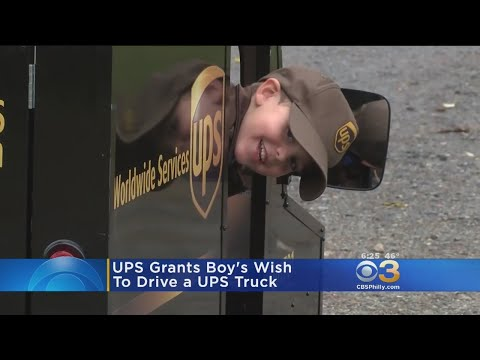 UPS Grants Boy's Wish To Drive A UPS Truck