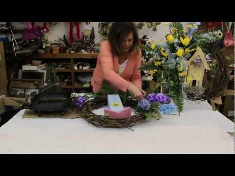 Silk Flower Wreaths | How to Make Silk Flower Wreaths