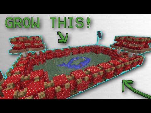 Minecraft: How to GROW a Mushroom CASTLE! (10 MINUTES)