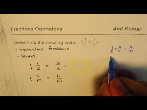How to find Fraction to Make Addition Equation True