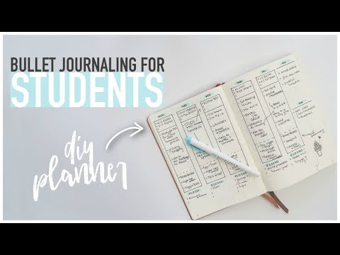 Bullet Journaling FOR STUDENTS | DIY Back-To-School Planner for University & High School
