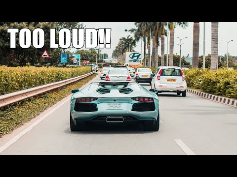 Xxx Mp4 INDIAN Highway Chasing LOUD Lamborghini Aventador Roadster INSANE FLYBYS GOPRO POV 3gp Sex