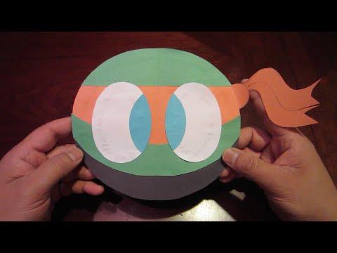 Easy to Make Best Popular Teenage Mutant Ninja Turtles Michelangelo Color Paper Tutorial - Lana3LW