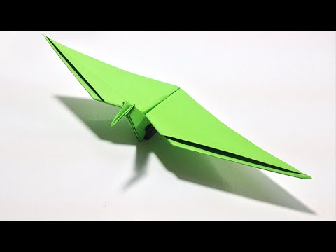 Origami Dinosaur - How to make an Origami Flying Dinosaur: Pterodactyl
