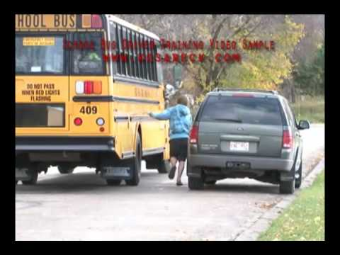 School Bus - Student Chases Bus