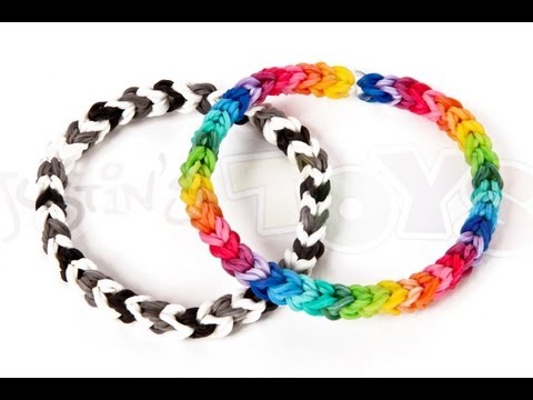 How to make a Classic Single Double Capped/Looped Rainbow Loom Bracelet