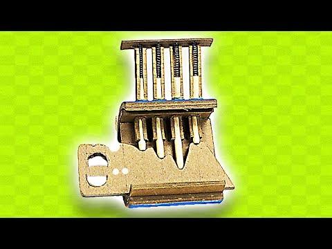 HOW TO MAKE CARDBOARD LOCK WITH KEY