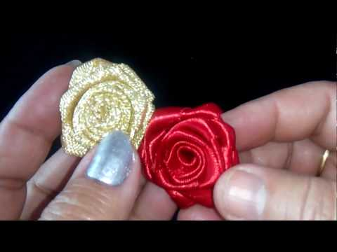 53-How to make satin ribbon roses(Hindi/Urdu)
