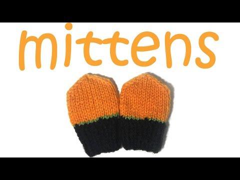 Pumpkin Mittens for a Newborn - Step by Step