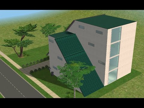 ♢ The Sims 2 ♢ Modern Roof House ♢