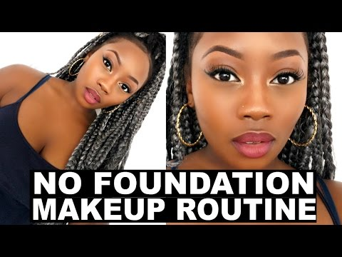 NO FOUNDATION MAKEUP ROUTINE | DRUGSTORE PRODUCTS |  LIZZIE LOVES