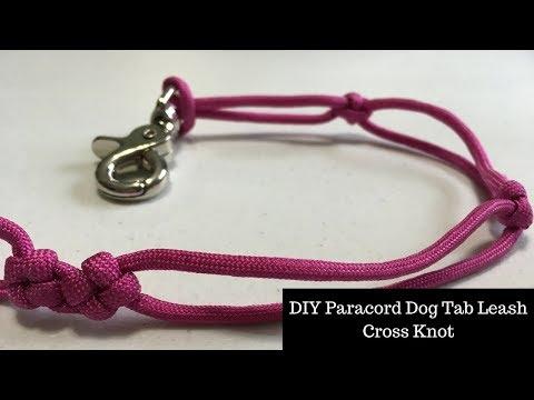 DIY Paracord Dog Tab Leash Cross Knot