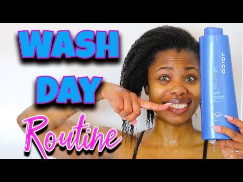 KINKY NATURAL HAIR WASH DAY ROUTINE - START TO FINISH