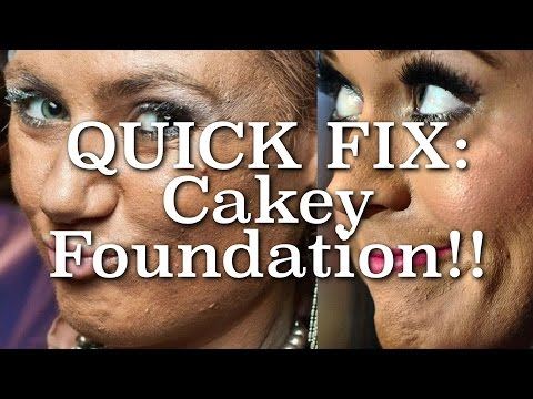 Quick Fix for Heavy, Cakey Foundation   Makeup Hack