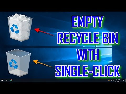 EMPTY RECYCLE BIN WITH JUST SINGLE-CLICK - WINDOWS 10 TIPS