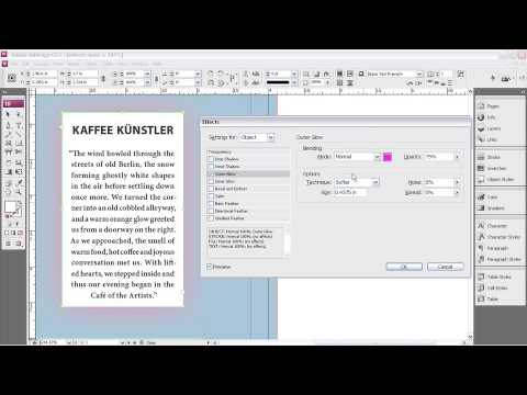 Adobe InDesign CS3 ch6  EFFECTS & TRANSPARENCY  Exploring New Effects