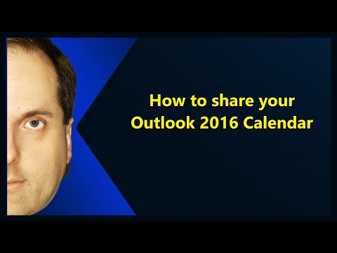 How to share your Outlook 2016 Calendar