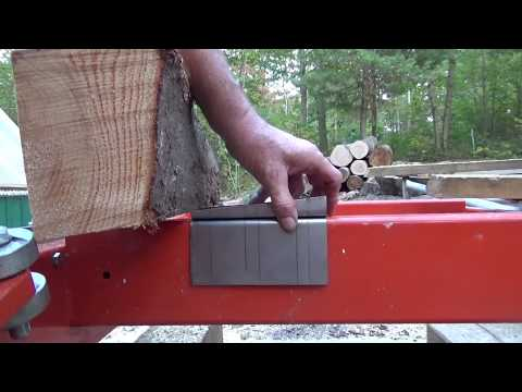 Making a jig for Bevel lap siding for the Woodmizer LT15