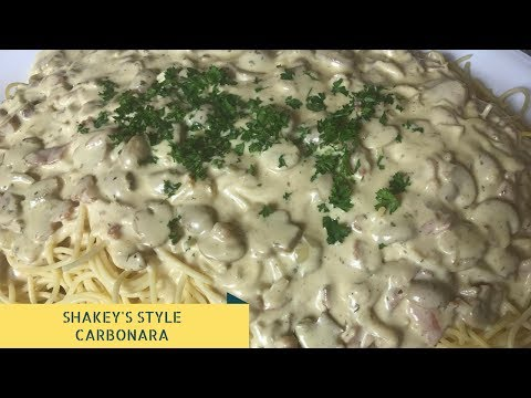 Shakeys Style Carbonara