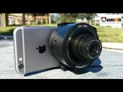 Amkov SP-W501 Wifi Camera Lens 14MP/1080P - Sony QX10 Clone - Android/iOS - Unboxing & Test!